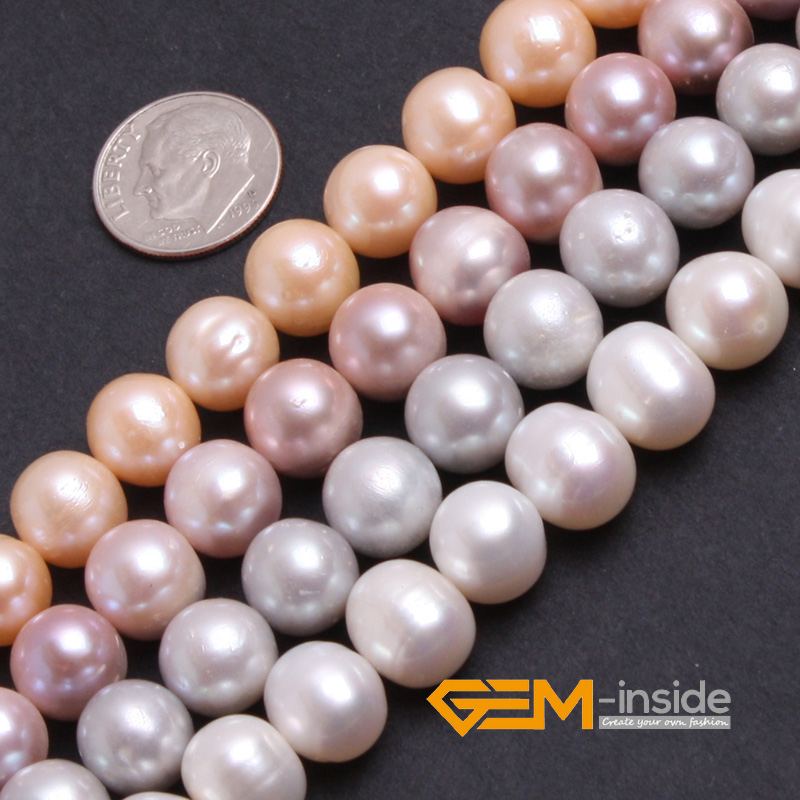 Pearl: 10-11mm Round Genuine Freshwater Pearl Beads DIY Loose Beads For Jewelry Making Beads Strand 15 Inches Wholesale ! 16 inches aa 10 11mm natural white round freshwater pearl loos strand
