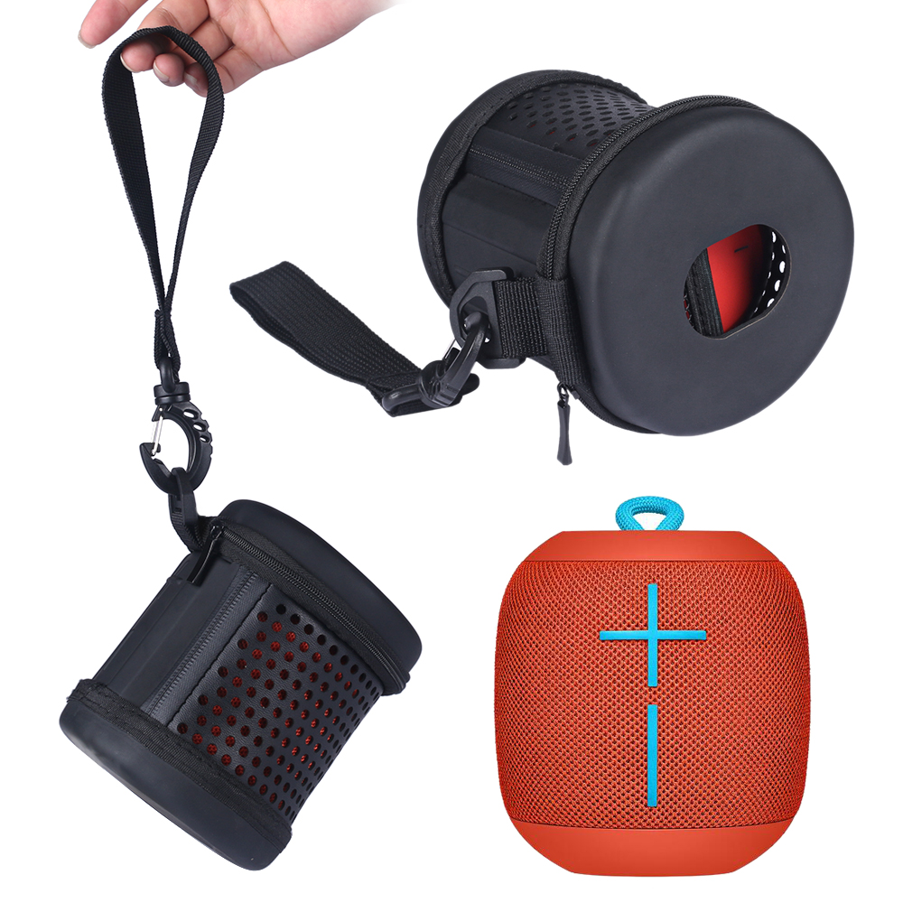 imágenes para 2017 Nuevo Cuero de LA PU Carry Altavoz de la Caja Protectora Cubierta de La Bolsa Del Caso Para Logitech Ultimate Ears UE WONDERBOOM Altavoz Bluetooth