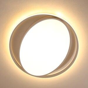 Image 3 - ミニマリズム白/黒現代のledシーリングライト寝室玄関ホームlamparasデ手帖ためランパーダled天井ランプ