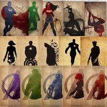 Pósteres superhéroes cómics maravilla DC impresiones Vintage decoración de pared del hogar papel Kraft arte del hogar marca MO58