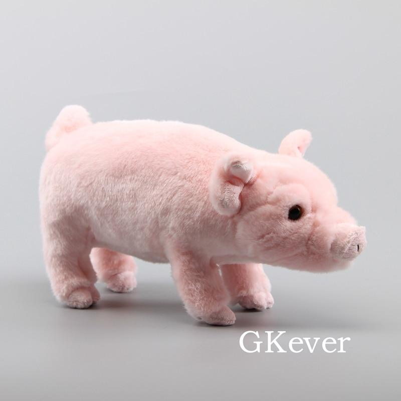 36 cm lifelike rosa porco pelúcia brinquedo