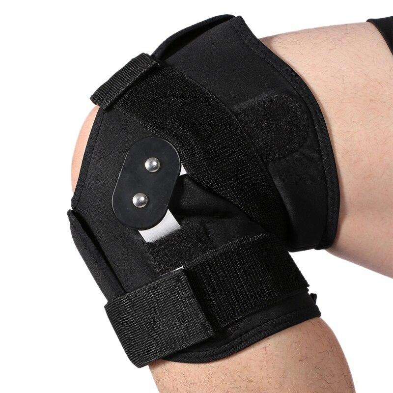 Einstellbare Kniestütze Pad Brace Schutz Arthritis Kniegelenk Patella Kniestütze Bein Compression Sleeve Loch Klapp Kniepolster