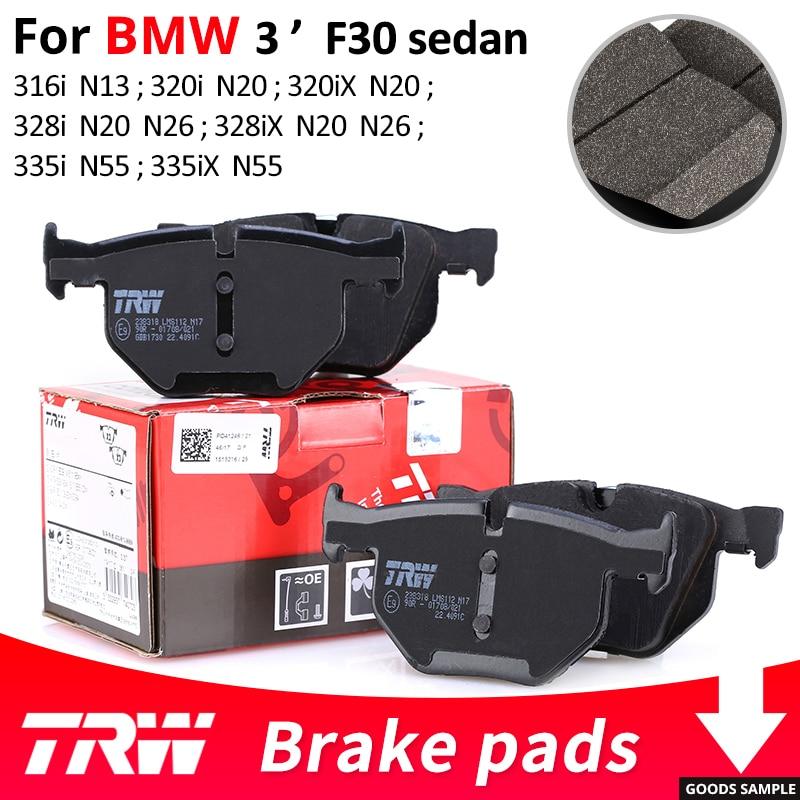 4 pièces/ensemble TRW avant/arrière plaquettes de frein de voiture/pièce de frein pour BMW série 3 F30 berline 316i 320i 320iX 328i 328iX 335i 335iX