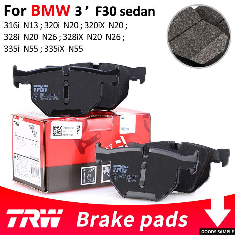 4pieces/set TRW Front/Rear Car Brake Pads/Brake piece For BMW 3 series F30 sedan 316i 320i 320iX 328i 328iX 335i 335iX international trw abs 355 3 0 9