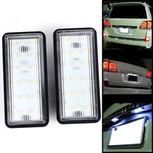 Free error Auto Bianco Numero di LED License Plate Kit Luce Per Lexus GX470 LX470 Toyota Land Cruiser 120 Prado Land Cruiser 200(China)