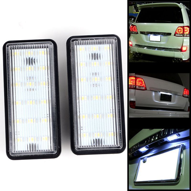 Error Free White Car LED Number License Plate Light Kit For Lexus LX470 GX470 <font><b>Toyota</b></font> <font><b>Land</b></font> <font><b>Cruiser</b></font> <font><b>120</b></font> <font><b>Prado</b></font> <font><b>Land</b></font> <font><b>Cruiser</b></font> 200 image