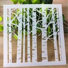 Stencils Forest Handmade DIY Bullet Journal Painting Template Doodle Hollow Ruler Hand Book Graffiti 1pc