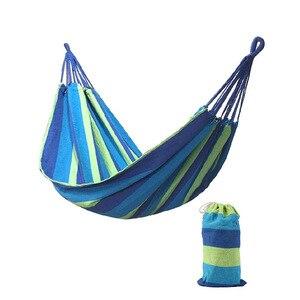Image 4 - Enkel Dubbel Dikke Canvas Hangmat Outdoor Camping Indoor Leisure Swing Student Slaapzaal Hangmat Artefact Hoge Kwaliteit