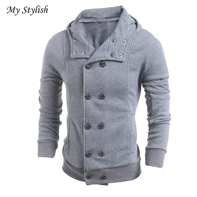 Men Fashion Autumn Winter Warm Slim Hooded Sweater Top Blouse Black Red Brand New High Quality