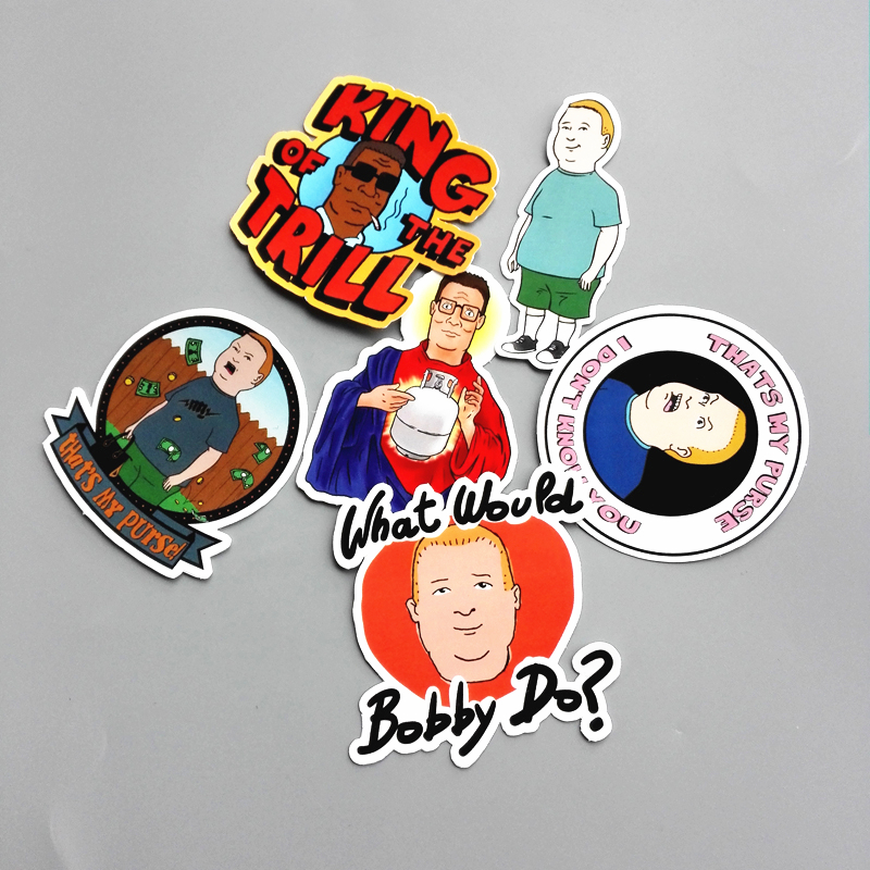 Classic Toys Stickers 6pcs/lot Western Anime King Of The Hill Sticker For Car Laptop Luggage Skateboard Motorcycle Phone Decal Kids Toy Sticker Always Buy Good