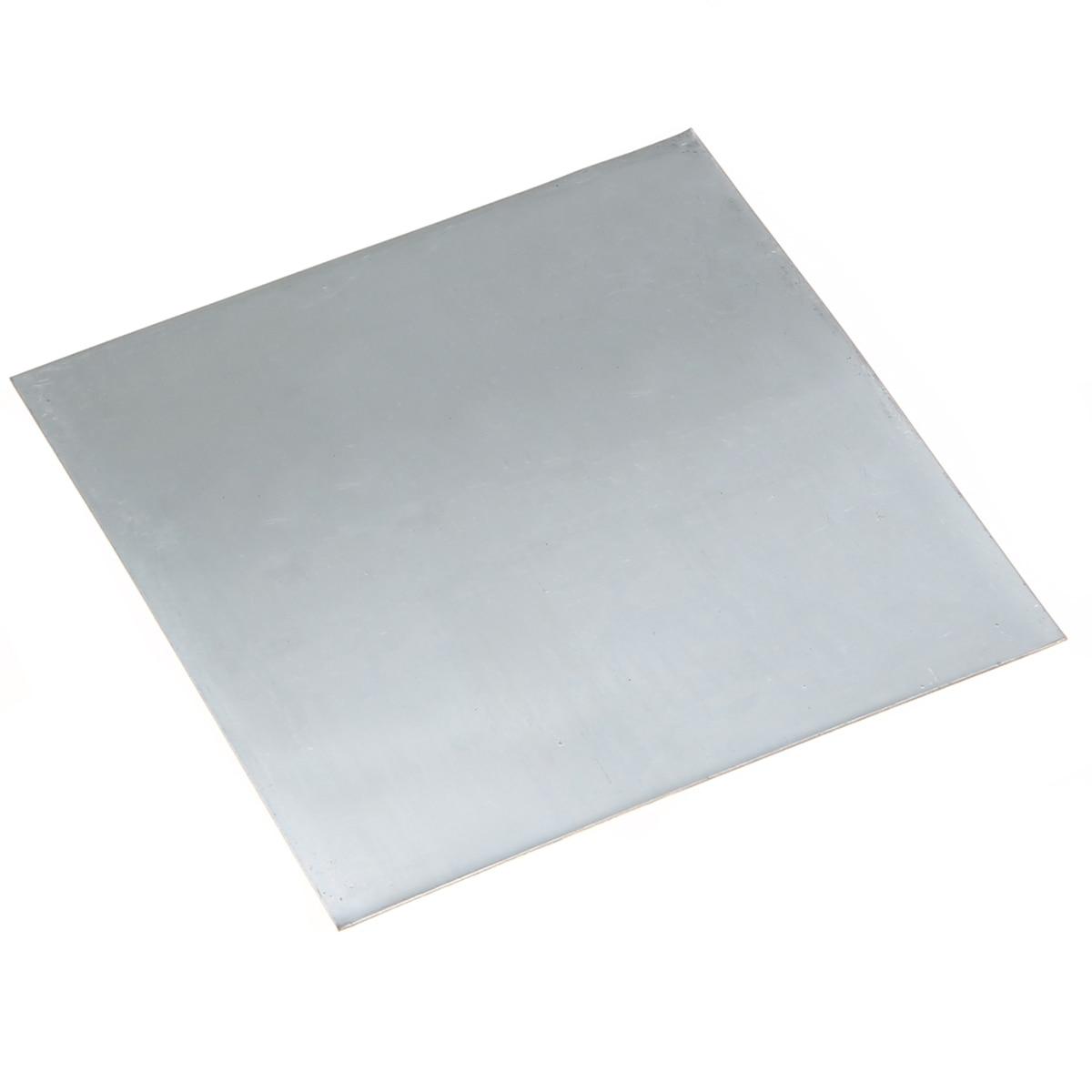 1Pcs  Zinc Plate 99.9% Pure Zinc Zn Sheet Plate 100mmx100mmx0.2mm For Science Lab Accessories