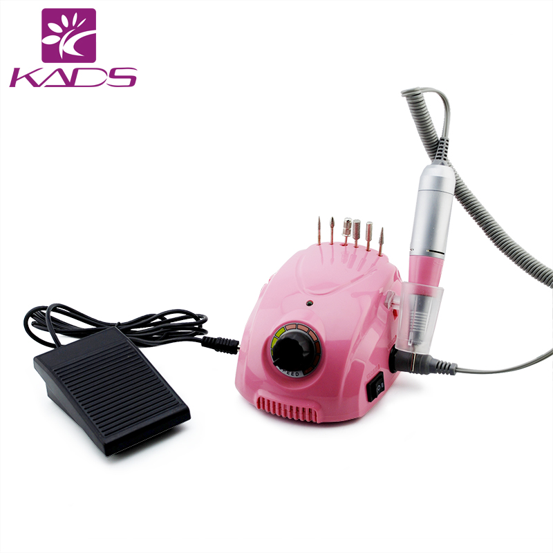 KADS 35000RPM Pro Electric Nail art Drill Machine Manicure Kits File Drill Bits Sanding Band Accessory Nail Salon Nail Art Tools white nail tools electric nail drill machine 30000rpm nail art equipment manicure kit nail file drill bit sanding band accessory