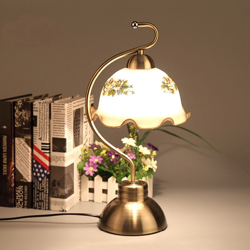 Modern touch touch bedroom bedside living room European style garden vintage, creative light Table lamp LO81820