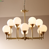 Nordic Lustre Copper E27 Led Pendant Chandelier Lighting Creative Glass Modo Dining Room Led Chandeliers Lamp