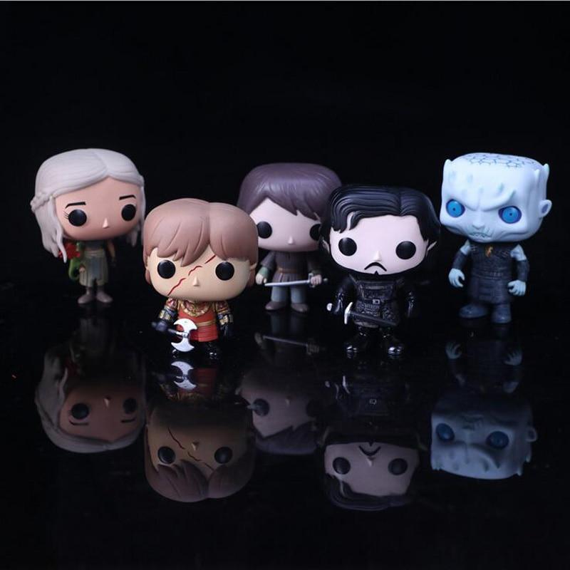 Action Figure Game of Thrones 10cm PVC Vinyl doll Jon snow Night King Aya Stark Daenerys Targaryen Drogon Ghost Tyrion Lannister funko pop game of thrones daenerys targaryen action figure model with gift box