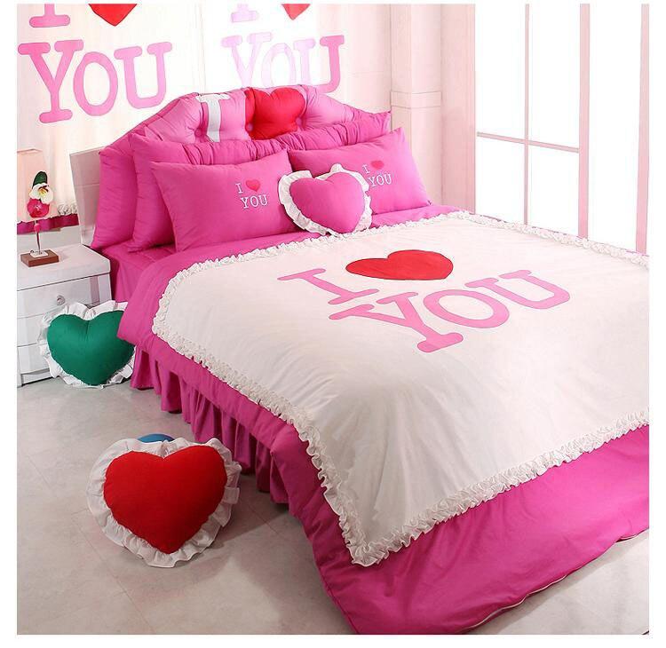 online kaufen gro handel romantische bettw sche set aus china romantische bettw sche set. Black Bedroom Furniture Sets. Home Design Ideas