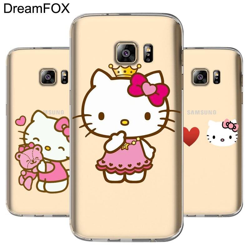 a487e689e05 DREAMFOX L058 Hello Kitty Soft TPU Silicone Case Cover For Samsung Galaxy  Note S 3 4 5 6 7 8 9 Edge Plus Grand Prime