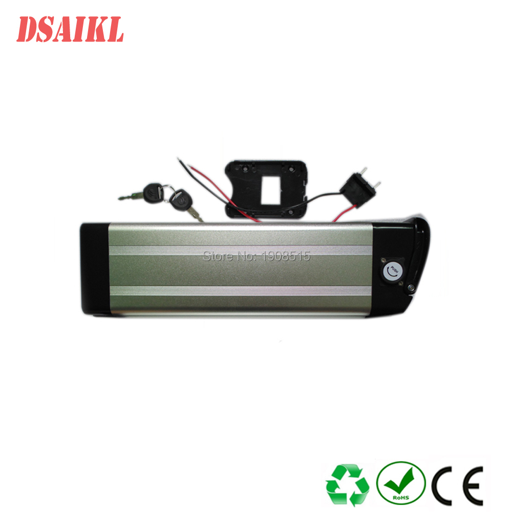 Silver fish 48V 17AH ebike batterypack with charger for 500w 750w electric bicycle motor kit free shipping 48v 15ah battery pack lithium ion motor bike electric 48v scooters with 30a bms 2a charger