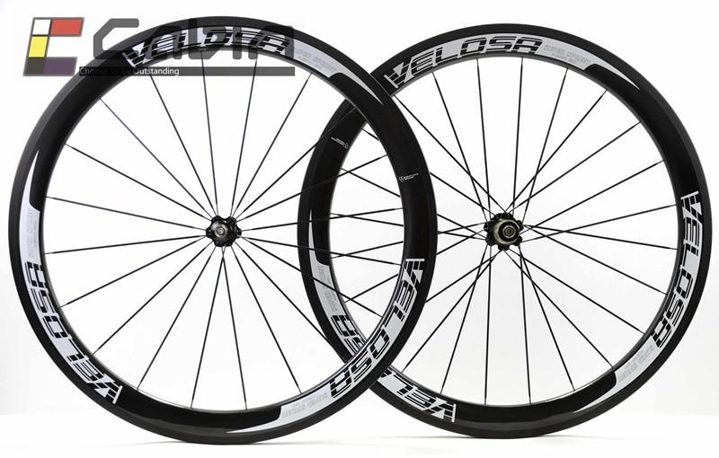 Free shipping 700C 50mm Velosa road bike wheel full carbon super sprint 50 road bike wheelset