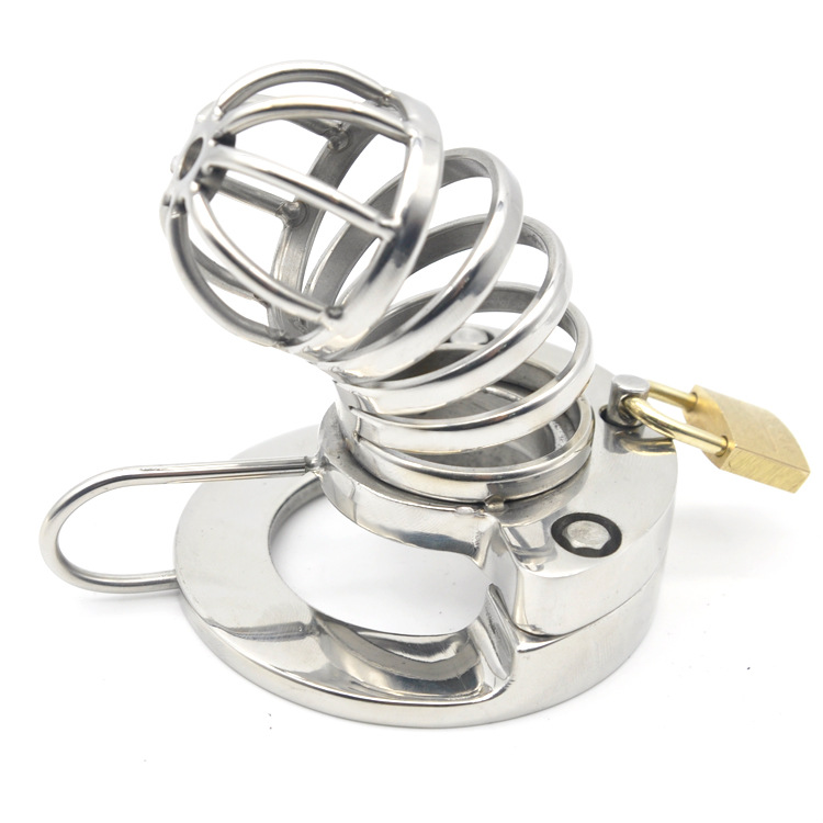 new stainless steel penis lock chastity cage device cock ring cb6000s Scrotum separator sex toys male bondage sex products man cock rings scrotum ring stainless steel ball stretcher cockring adult sex toys for men scrotum bondage locking penis ring