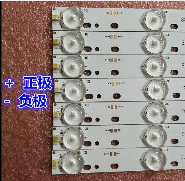 2pcs 32'' 570mm*17mm 10leds LED Backlight Lamps LED Strips W/ Optical Lens Fliter For TV Monitor Panel 30V New