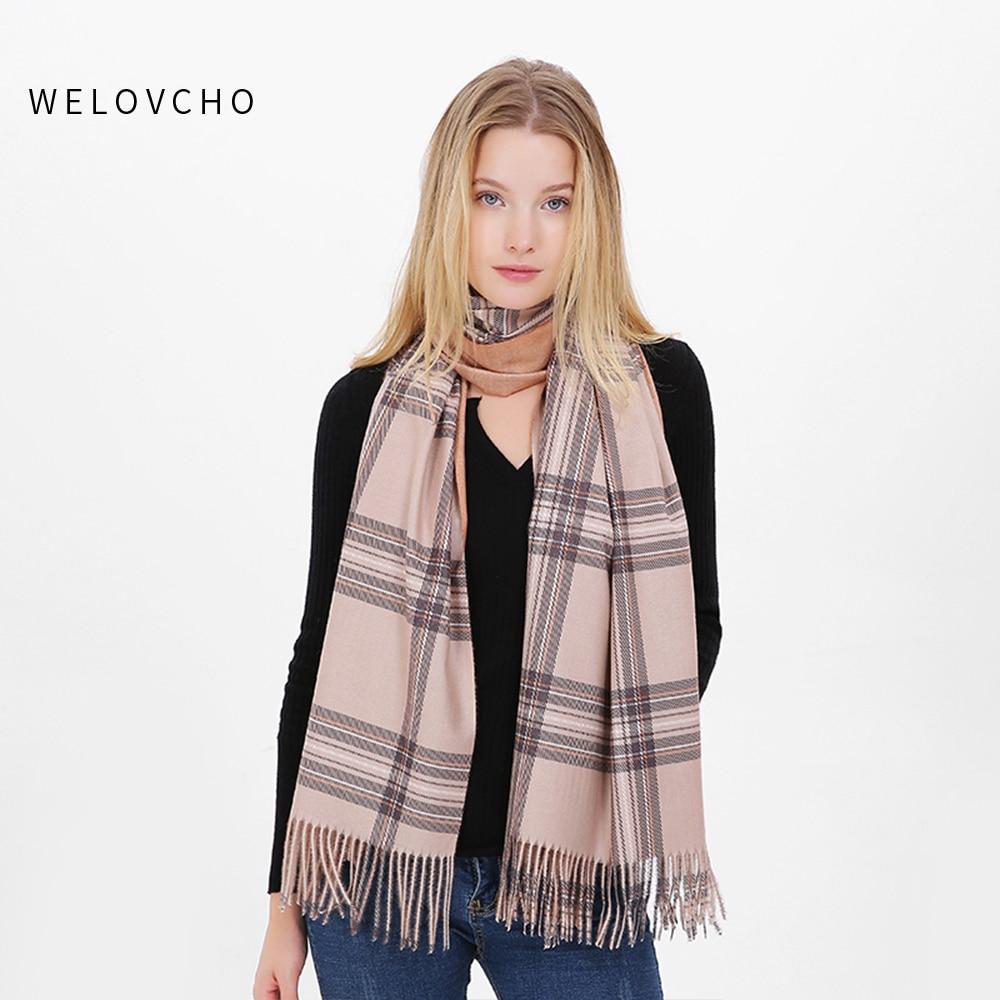 New Autumn Winter Female Plaid Scarf Women Cashmere Scarves Wide Lattices Long Shawl Wrap Blanket Warm Tippet Drop Ship Ladies