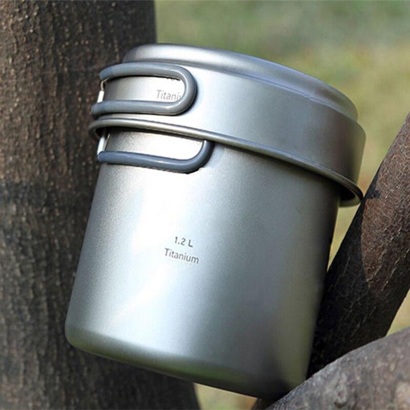 Keith titanium pot titanium juego de ollas caldero y sartén 400 ml + 1.2l sender