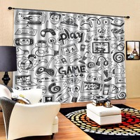Europe simple curtains 3d Curtains Blackout for Living Room Kids Bedroom Fabric Blackout curtain