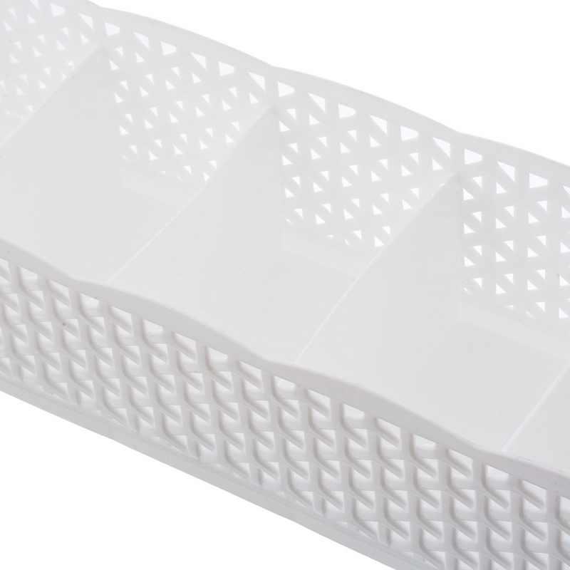 5 グリッド収納バスケットワードローブオーガナイザープラスチック化粧オーガナイザーオフィスデスクトップ収納ボックスソックス下着