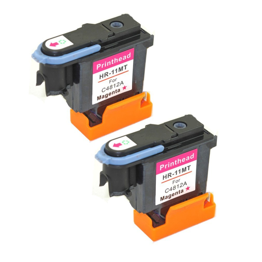 Factory Price 2 PCS magenta for HP 11 Printhead C4812a for Print head 1000 1100 1200 2200 2280 2300 2600 2800 CP1700
