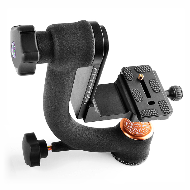 QZSD Q45S universal joint tripod head upright heavy duty lens dedicated 360 degree rotation stability bracket
