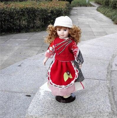 Hauteur 30 cm russie Style européen Style Victoria russie en céramique classique poupée anniversaire nœud fille cadeaux