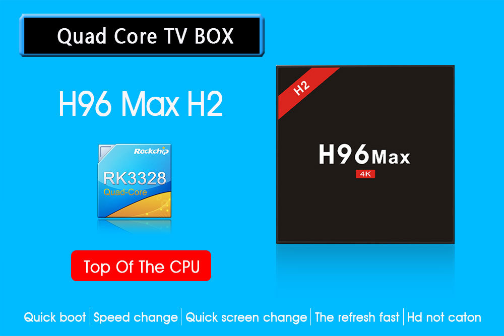 H96 Max H2 4G 32G TV Box Android 7 1 RK3328 Quad Core Set