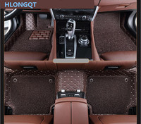 HLONGQT Auto Floor Mats For Ford MUSTANG 2012 2017 Foot Step Mat High Quality Embroidery Leather Wire coil 2 Layer