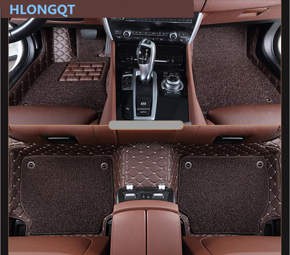 Hlongqt auto floor mats for ford mustang 2012 2017 foot step mat high quality embroidery