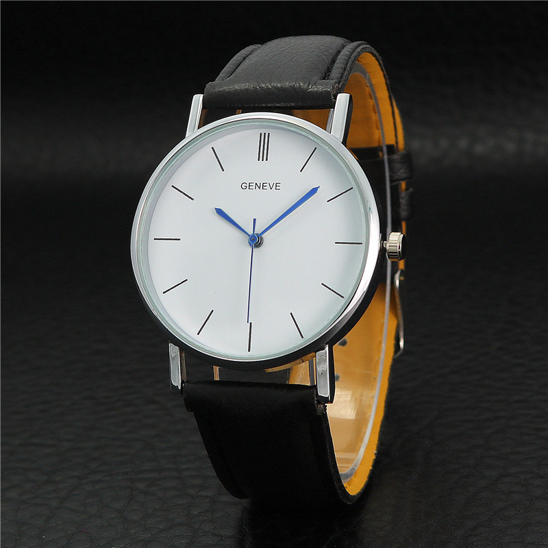 High quality low price famous top brand Geneva men's belt watch fashion ladies quartz wristwatches student couple watch gift