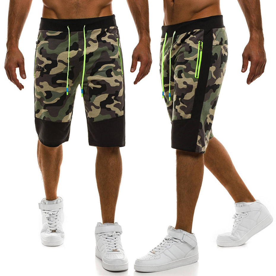 ZOGAA 2018 New Men's Casual  Solid Drawstring Jogger  Sporting Trousers Elastic Waist Male Short Military  Brand Clothing