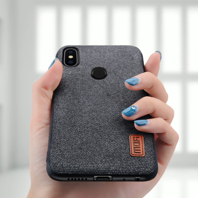 check out 3b3c5 fd54d Xiaomi Redmi Note 5 case cover note5 Global Version back cover silicone  edge fabric case coque MOFi Redmi note 5 pro case