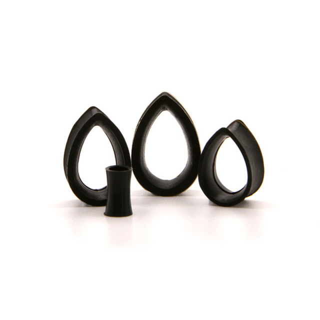 1 Pair Flexible Silicon Tear Drop Ear Plugs