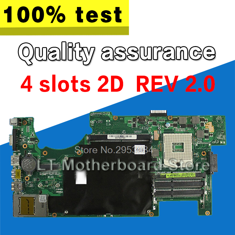 For ASUS G73 G73J G73JW REV2.0 2D Connector 4RAM Solts 60-N0UMB1200-A02 Laptop Motherboard System Board Main Board Mainboard g73sw for asus motherboard rev2 0 hm65 4ram slots 3d connector 90r n3imb1000y mainboard full test