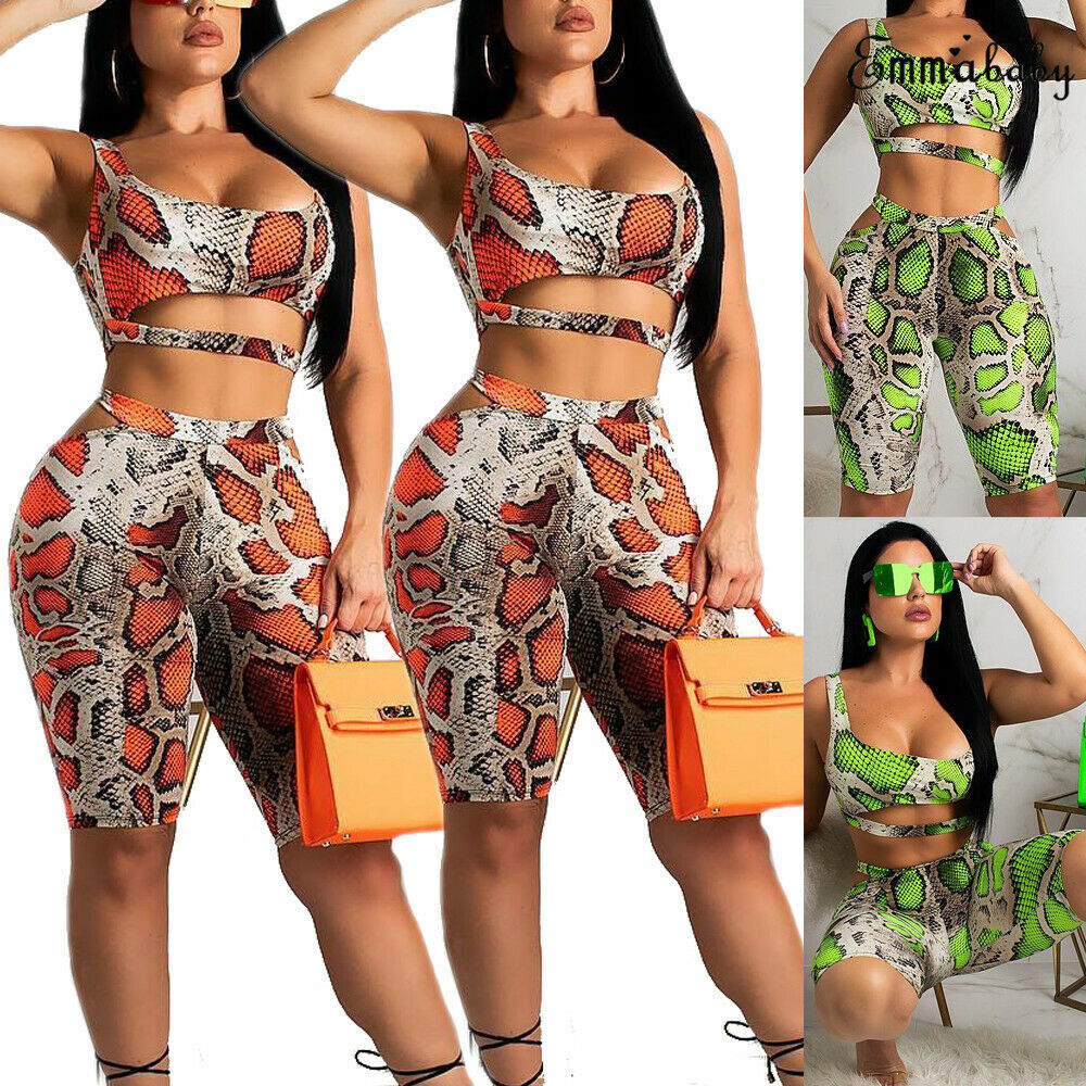 2019 Spring Summer Women Sports Bra Fitness Suit Crop Top Pants Outfit Yoga Workout Tracksuit Clothes Tracksuit Leopard Print