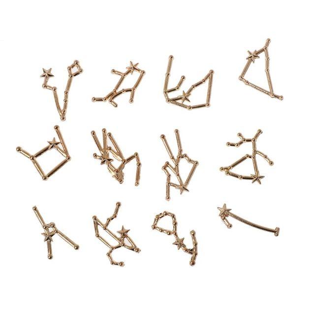 12 Созвездие Смола Металл Материал эпоксидная форма открытый ободок Шарм, изготовление украшений
