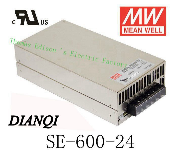 Original MEAN WELL power suply unit ac to dc power supply SE-600-24 600W 24V 25A MEANWELL meanwell 24v 60w ul certificated lpv series ip67 waterproof power supply 90 264v ac to 24v dc