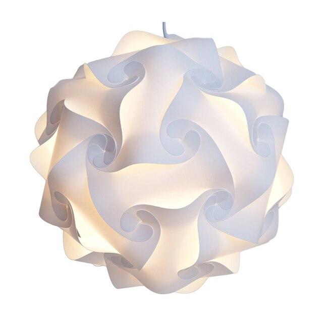 Modern Nordic DIY Ball Novelty Puzzles White Pendant Light Colorful PVC PP Pendant Lamp Dia.25cm/30cm/40cm E27 110-240V H-04