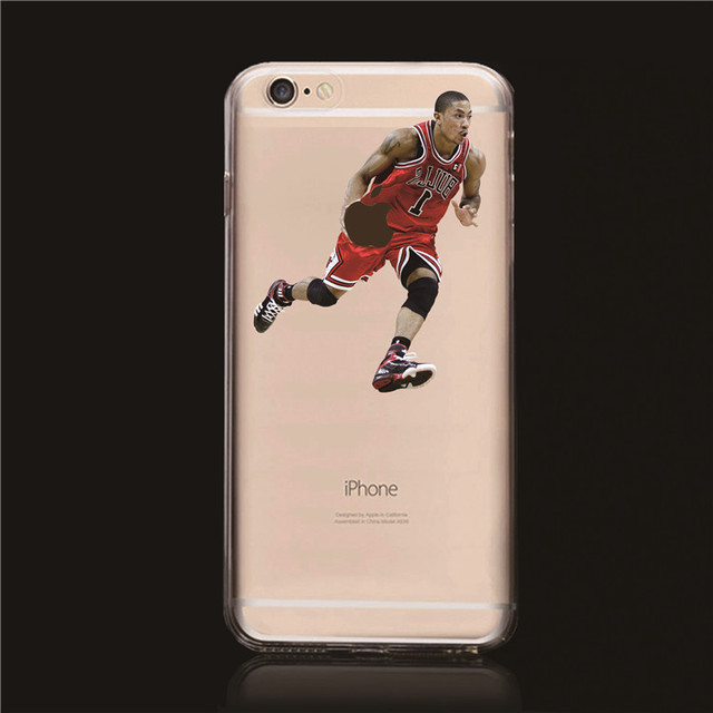 75c44ca8deea 2015 new Transparent hard Cover for NBA fans NBA Star Derrick Rose Allen  Iverson case cover for iphone 6 4.7
