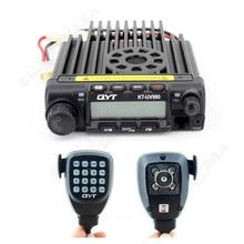 Free shipping!QYT KT-UV980 40W U/VHF 136-174MHz 400-480MHz Car Mobile 2-Way Radios Transceiver