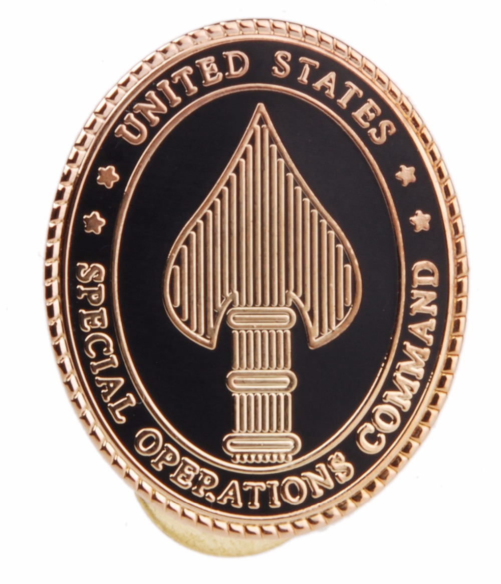 US MINI UNITED STATES SPECIAL OPERATIONS COMMAND BADGE INSIGNIA METAL PIN