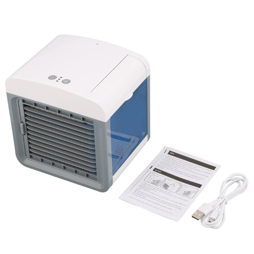 Convenient Air Cooler Fan Portable Digital Air Conditioner Humidifier Space Easy Cool Purifies Air Cooling Fan for Home Office