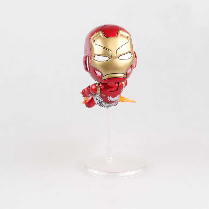 Avengers 2 Age of Ultron Superheros Iron Man Flying Ver. Q Version PVC Action Figure Collectible Model Kids Toys Doll 10CM