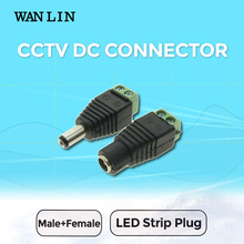 Ван лин 10 пар (20 шт.) dc мужской женский led разъем без пайки cctv аксессуары для светодиодных питания адаптер и полосы